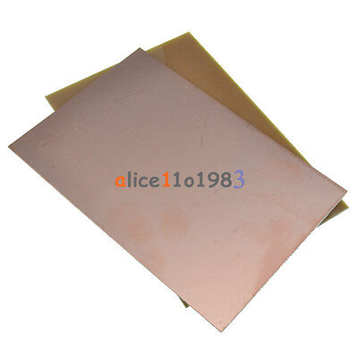 2PCS 10*15cm 10cmx15cm Single PCB Copper Clad Laminate Board FR4