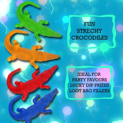 Stretchy Crocodile Sticky Kids Pinata Toy Party Bag Stocking Filler Xmas Gift UK