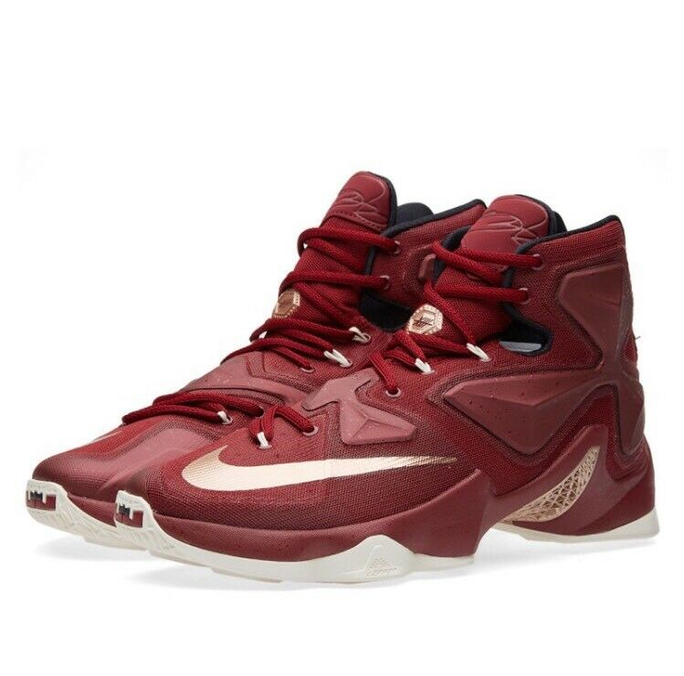Nike Lebron XIII Homme Baskets Taille UK 15 EU 50.5 807219 690 équipe Rouge-