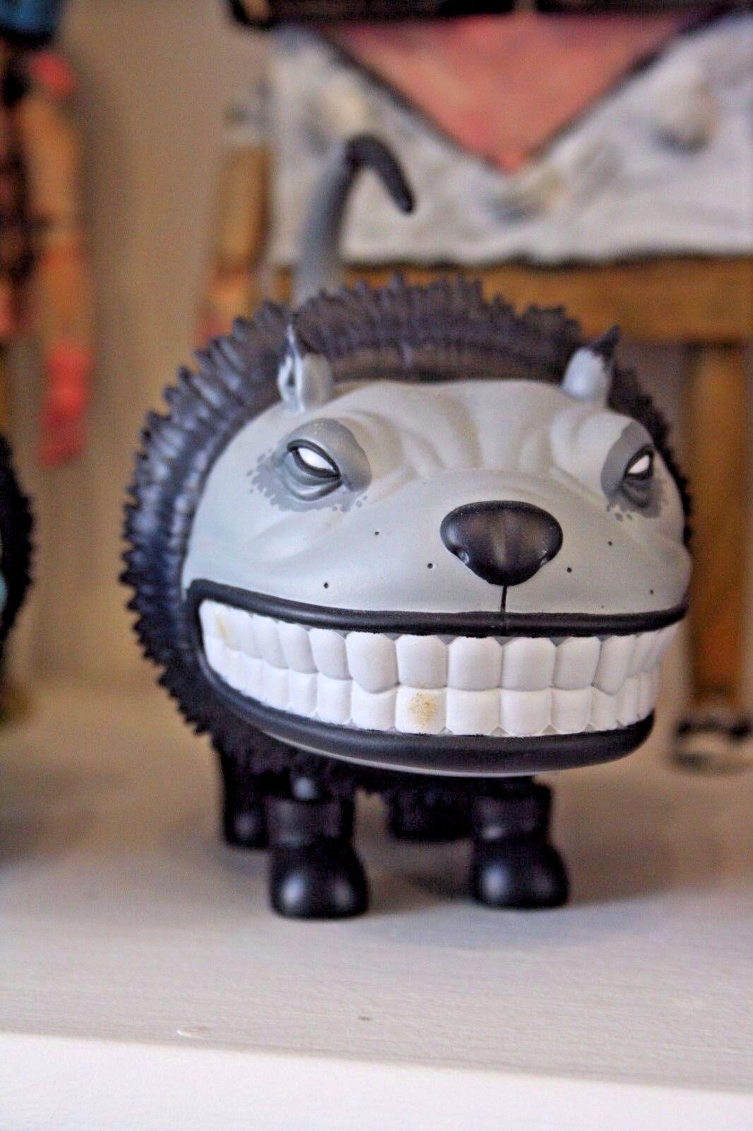 Scott Musgrove StrangeC Designer Toy Booted Glamour Cat 5  GREY MONO
