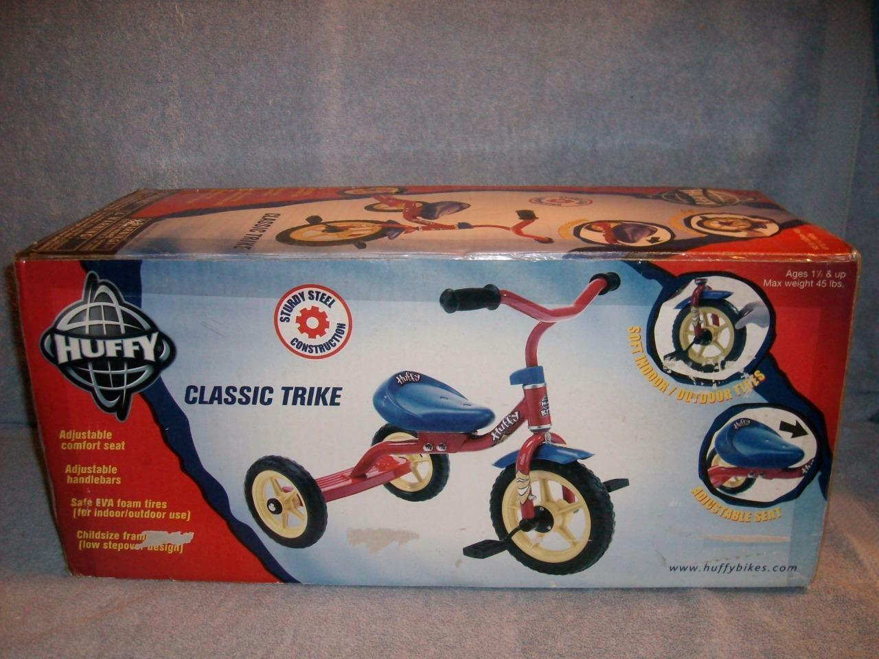 Huffy Classic Red bluee Trike Soft In Outdoor Tires Tires Tires Adjustable Seat 39007 Sealed a961ab