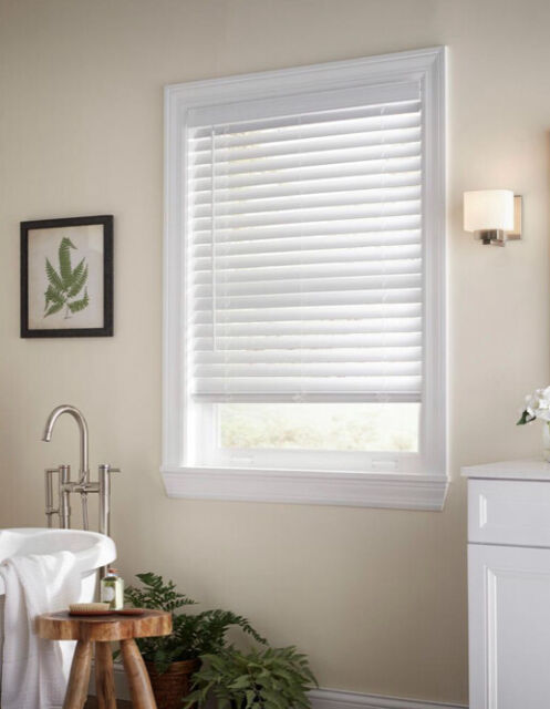 Home Decorators Collections Faux Wood Blinds White 29 X 64 2 1 2 Inch