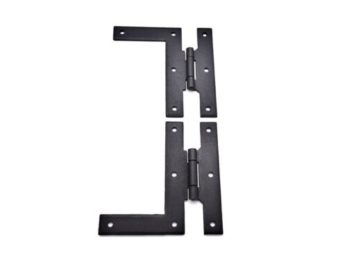 """Iron Forged Antique Style Hinge Sold In Pairs H L Hinge 4/"""" Black Iron Hinge"""