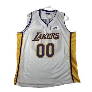 Details about Los Angeles LA Lakers #00 Wish SGA Replica White Basketball Jersey Kids XL