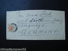 China cover fm hk to Germany with KGVI stamp dd 12 Sp 1952