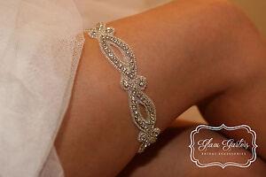 GlamGarters Bridal Wedding Leg Garter Crystal Garters Custom Glam Garters Emma