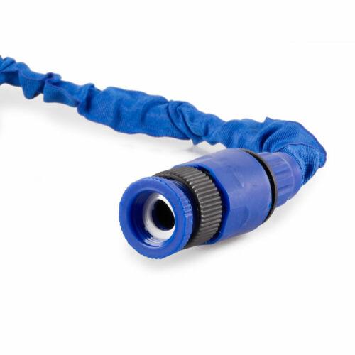 50FT-200FT Stretch Hose Flexible Extendable Compact Garden Hose Pipe Black Blue