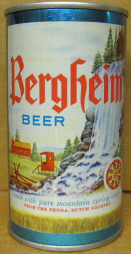 PENNSYLVANIA 1971 PA Dutch Country Reading Grade 1//1+ BERGHEIM BEER ss CAN