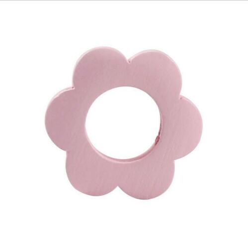 DIY Mixed Wooden Flower Wood Beads Spacer Beads For Kids pacifier clip 29mm