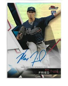 Atlanta Auto Max >> Details About Max Fried 2018 Topps Finest Fa Mfr Rc Auto Autographs Refractors Atlanta Braves