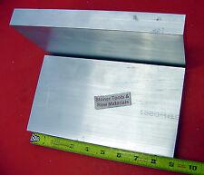 "2 Pieces 1"" X 5"" ALUMINUM 6061 FLAT BAR 9"" long Solid 1.000"" Plate Mill Stock"