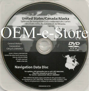 Gm United States Canada Map Disc 2006 GM In dash Navigation DVD U.S Canada Map For 2006 2007 2008 2009
