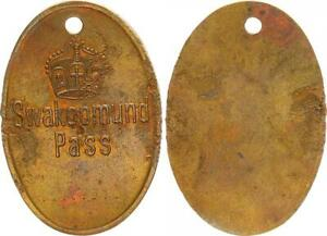 German South West Africa Tribal Passmarke Swakopmund Pass Patina 42581