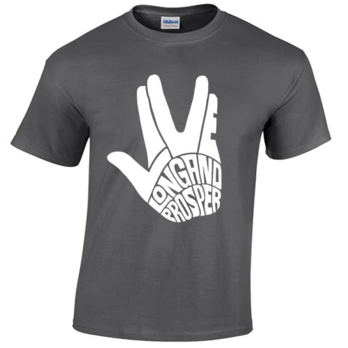 Larga vida y prosperidad para hombre Camiseta Star Trek Kirk Sci Fi SPOC Trekkie