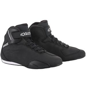 Alpinestars-Sektor-Motorcycle-Motorbike-Shoes-Black-10