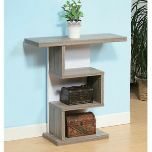 modern unique style hallway entryway console sofa table stand wood dark taupe ebay. Black Bedroom Furniture Sets. Home Design Ideas