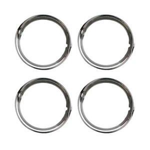 Universal-VW-Beetle-Splitscreen-Stainless-Steel-Beauty-Wheel-Trim-Rings-15-Inch