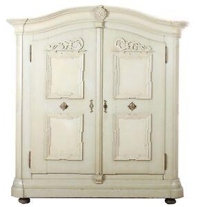 Fabulous Barock Schrank weiß Garderobe Schrank Wäscheschrank Kleiderschrank WL99