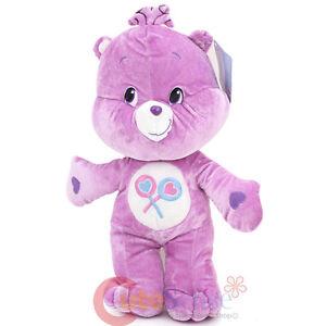 "Care Bears Share Bear Jumbo Plush Doll 28"" X Large Soft Stuffed Toy Purple Bear"