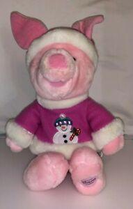 Disney-Store-Exclusive-Winnie-the-Pooh-Piglet-Snowman-Pink-Christmas-12-034-Plush