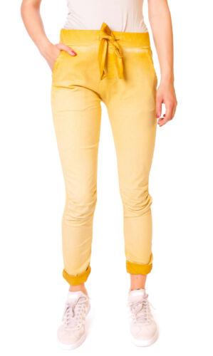Damen Hose Jogger Pants Joggpants Jeggings Treggings 7//8 Sommerhose Gelb M 38