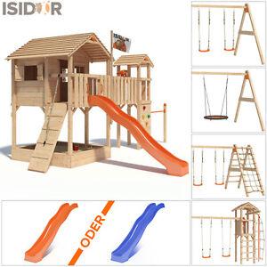 Unterschiedlich ISIDOR Big Ponti Spielturm Baumhaus Brücke Turm XXL-Rutsche Fahne  WQ05