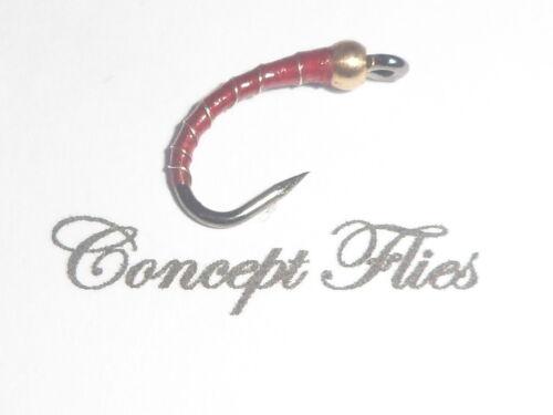 Lot de 3 Taille 12 Sans Ardillon Red goldhead profondeur Chargeur Buzzers par conceptflies