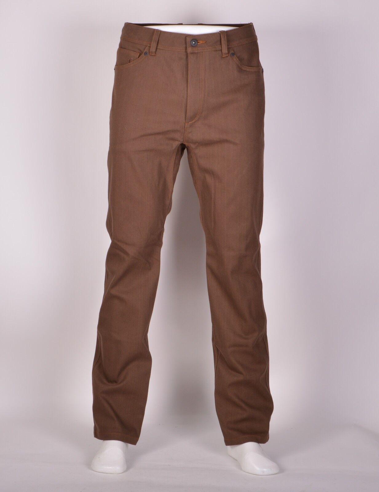 2016 Nwt Herren L1 One Isoliert Hose M-32 Braun Überfärbte Jeans Premium Waren