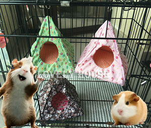 Ymid Select Handmade Small Animal Hanging Hammock Bunkbed Hammock Toy for Ferret Hamster Parrot Rat Guinea-Pig Mice Chinchilla Flying Squirrel Sleep Nap Sack Cage Swinging Bed Hideout
