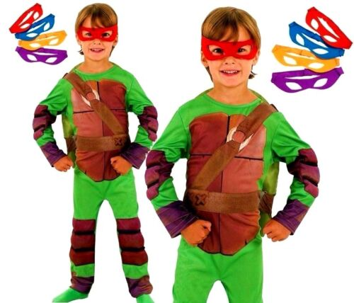 Boys Padded Shell DELUXE TEENAGE MUTANT NINJA TURTLES Fancy Dress  Kids Costume