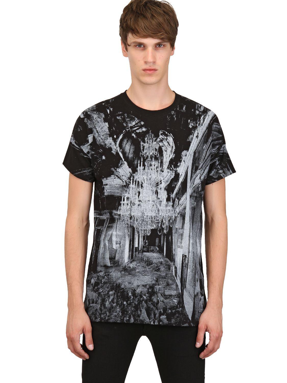 NWT Authentic KRIS VAN ASSCHE CHANDELIER Print T-Shirt Tee XS LIMITED EDITION