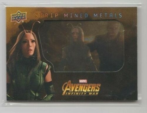 Avengers Infinity War Mined Metals Trading Card #SMM3 Pom Klementieff as Mantis