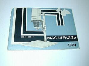 MEOPTA MAGNIFAX 3a notice pour agrandisseur photo photographie