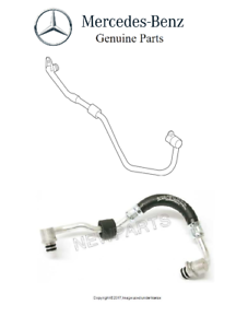 For Mercedes C216 W463 GL550 Pair Set of Left /& Right Turbocharger Coolant Lines