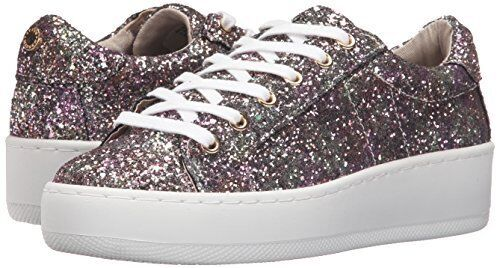 Steve Madden Bertie-G Multi Glitter 7 Fashion Round Toe Lace-up Platform Turnschuhe