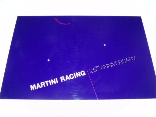 Anniversary la placa base para 2 1:43 modelos. Martini Racing 25th