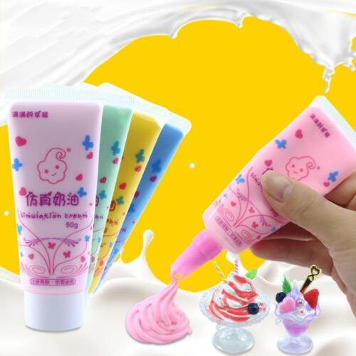 50g Fake Whipped Cream Clay DIY Kawaii Cupcake Cell DIYGift Den Phone Case X6A9