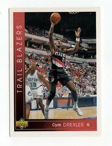 nba CLYDE DREXLER UPPER DECK 93 94 TRAIL BLAZERS european series BASKETBALL CARD