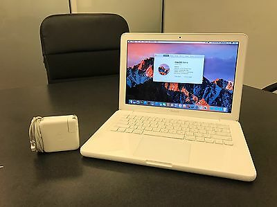 "Apple White MacBook 13"" Mid-2010 4GB RAM 250GB HD Intel 2.4 with macOS Sierra!"