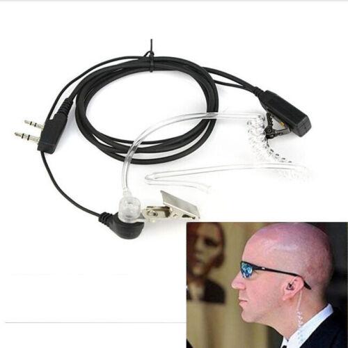 FBI Style Headset Earphone Earpiece Mic Security Radio Walkie Talkie Pro 2 Pin