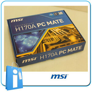 Placa-base-ATX-H170-MSI-H170A-PC-MATE-Socket-1151-con-Accesorios