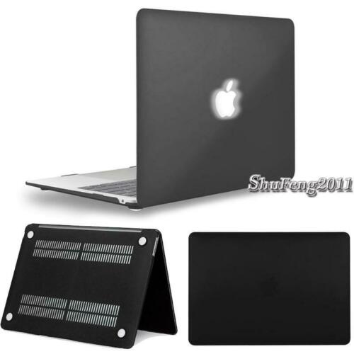 """Black Rubberized Hard Case Shell For Macbook AIR //PRO//RETINA 11/"""" 12/"""" 13/"""" 15/"""""""