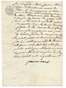 1850-manuscript-documet-with-stamp-dark-writing-and-primitive-signature-INCREDIB