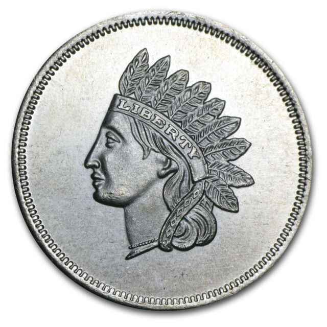 1 oz Silver Round - Indian Head Cent (Replica) - SKU #77720