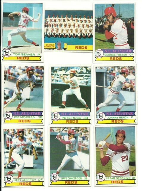 1979 Topps REDS Team Lot 27 cards ROSE BENCH SEAVER MORGAN  Griffey Concepcion