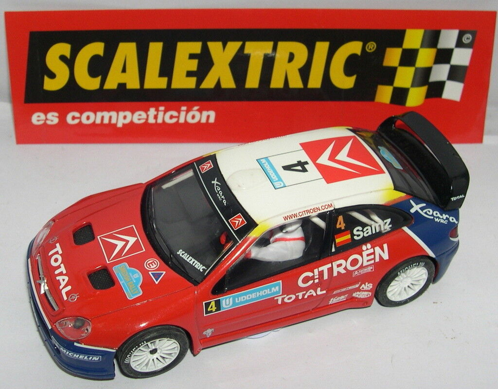 SCALEXTRIC CITROEN XSARA WRC SAINZ TRAC.TRASERA ONLY IN SETS MINT UNBOXED