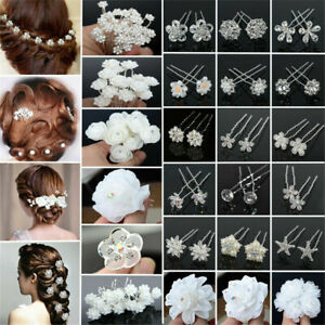 20-40Pcs-set-Wedding-Bridal-Pearl-Rose-Flower-Hair-Pins-Crystal-Rhinestone-Clips