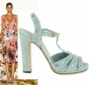 805f7ba73ddf Image is loading 895-GUCCI-SHOES-JACQUELYNE-CRYSTAL-STUDDED-STRAPPY-SUEDE-
