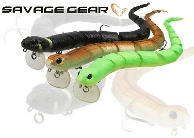 SAVAGE GEAR TOPWATER LIFELIKE FLOATING SWIMBAIT LURE 3D SNAKE 300mm//57g