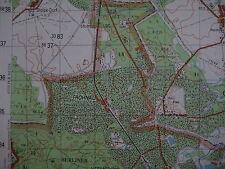 Frohnau Westberlin Berliner Mauer Berlin Wall map Karte MfS NVA Grenztruppen